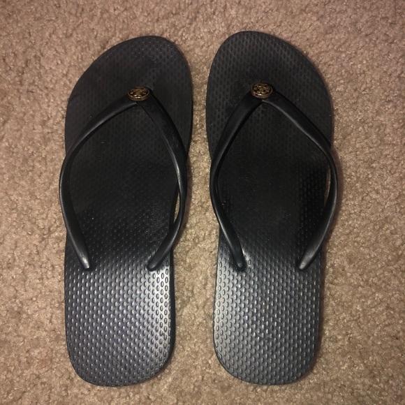 Tory Burch Black flip flops used 6